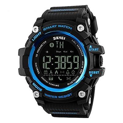 1227 Smart Pedometer Calories Clocks Waterproof Digital Outdoor Sports Watches (Brown Gold)