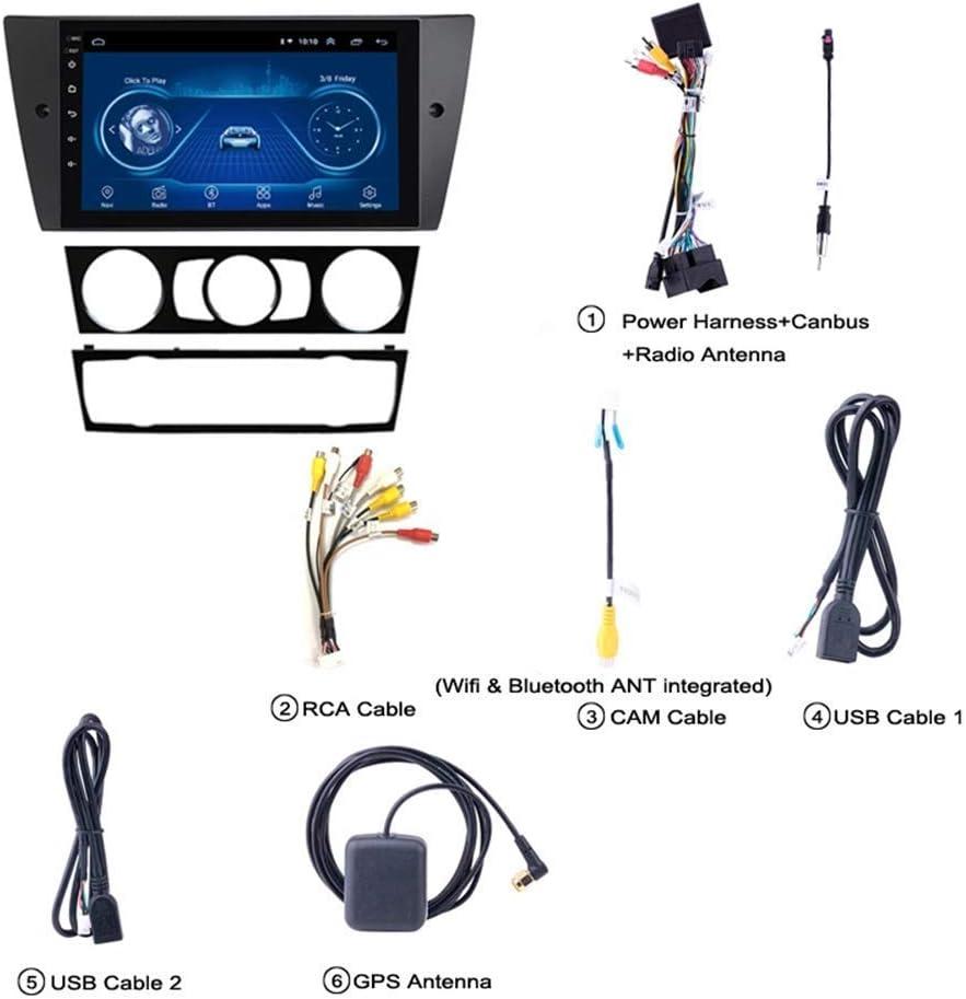 Nav para BMW E90 E91 E92 E93 2005-2012 Sistema de navegaci/ón por sat/élite GPS Navigator Seguidor de Jugador de Radio de la Pantalla t/áctil del Espejo Enlace WiFi Bluetooth