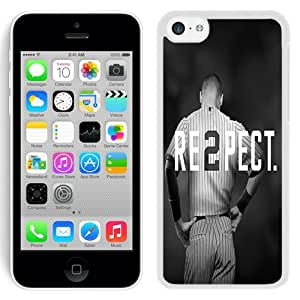 Popular And Durable Custom Designed Case For iPhone 5C With Derek Jeter Re2pect New York Yankees White Phone Case