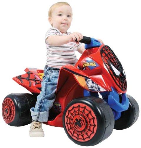 INJUSA 7246 Fahrrad und Fahrzeug für Kinder – Quad Spider Sense Spiderman 6 V