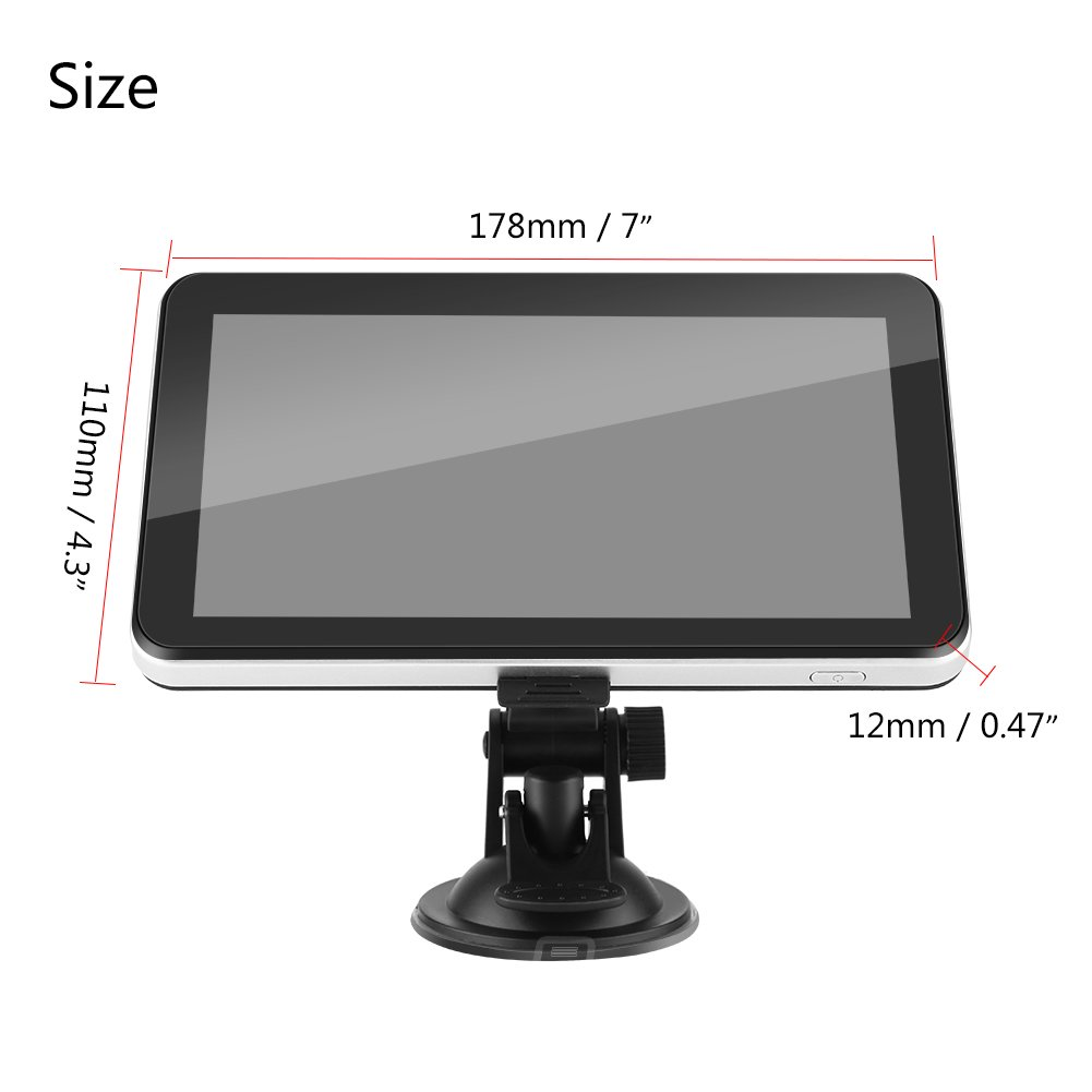 International Touch Screen GPS Navigator Multimedia FM Maps System Device for Car Vehicle Truck 7 Inch GPS Navigation Device 128M 8GB Europe
