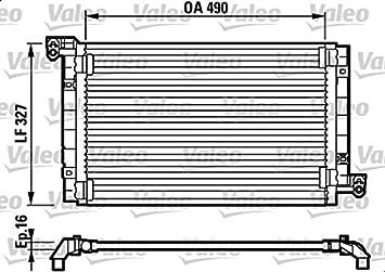 VALEO Engine Cooling Radiator Fits FIAT Multipla MPV 1999-2010