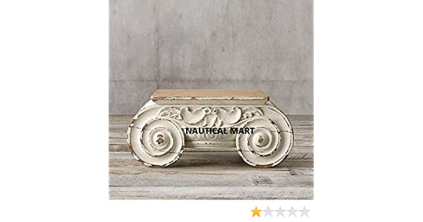 Amazon.com: DISTRESSED IONIC CAPITAL DECOR WOODEN COFFEE TABLE: Kitchen U0026  Dining