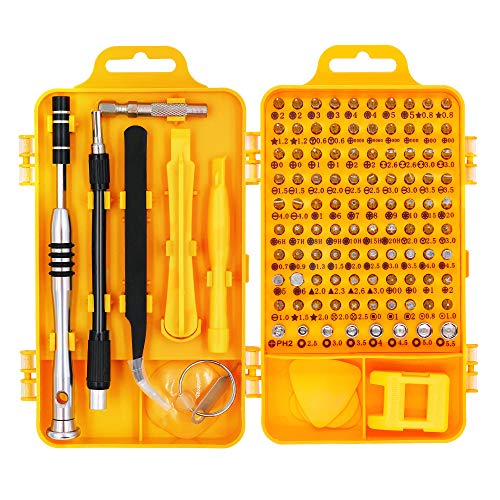 HX Studio 110 in 1 Precision Screwdriver Set Magnetic Driver Kit, Professional Repair Tool Kit for iPhone X, 8, 7 below/Phone/Computer/Tablet/Xbox/PlayStation/electronic ()
