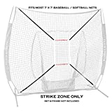 Flair Sports Pro Series STRIKE ZONE Attachment for 7' x 7' Baseball & Softball Hitting Nets - Heavy Duty (Strike Zone Only, Net NOT Included)