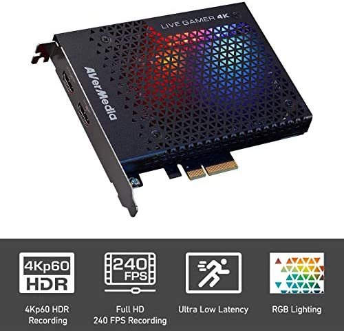 AVerMedia Live Gamer 4K - 4Kp60 HDR Capture Card, Ultra-Low Latency for Broadcasting and Recording PS4 Pro and Xbox One X, PCIe Gen2x4 (GC573) 2