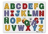 Melissa & Doug See-Inside Spanish Alphabet Wooden Peg Puzzle (27 pcs)