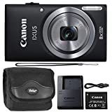 Canon IXUS 185 / ELPH 180 20MP Black Compact Digital Camera and Camera with Case