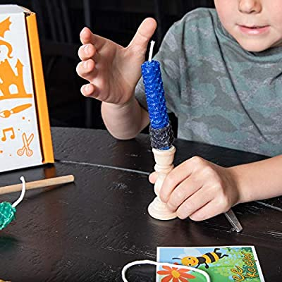 Fat Brain Toys Surprise Ride - Build Beeswax Candles Activity Kit Arts & Crafts for Ages 5 to 10: Toys & Games