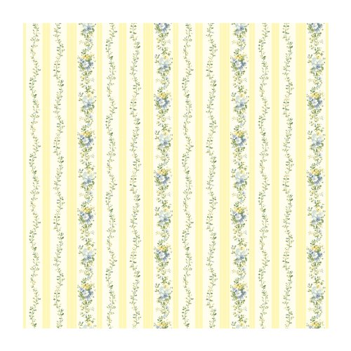 (York Wallcoverings SM8586SMP Small Treasures Flower Vines and Dotted Stripes Wallpaper Memo Sample, 8-Inch x 10-Inch)