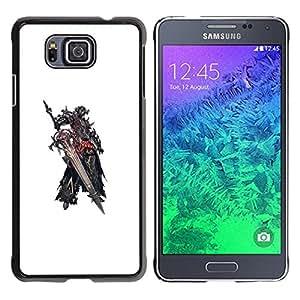 YOYOYO Smartphone Protección Defender Duro Negro Funda Imagen Diseño Carcasa Tapa Case Skin Cover Para Samsung GALAXY ALPHA G850 - gran espada, lucha dios