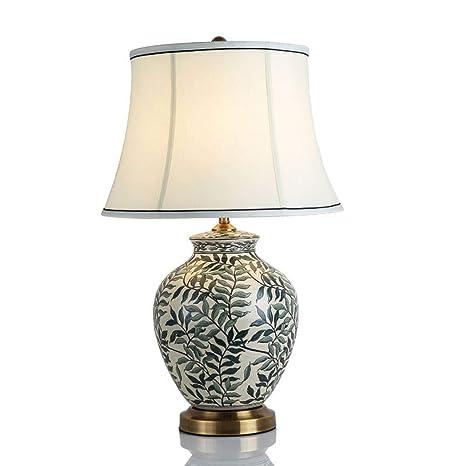 LCNINGTD Lámpara de Mesa de cerámica/lámpara de Mesa Azul ...