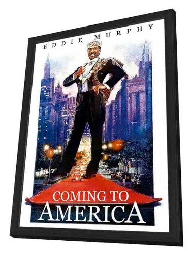 Coming to America - 27 x 40 Framed Movie Poster