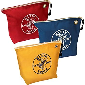 Klein Tools 5539CPAK 3 Pack of Assorted Canvas Zipper Bags