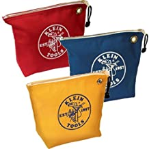 Klein Tools 5539CPAK Canvas Zipper Bags, Assorted Colors, Pack of 3