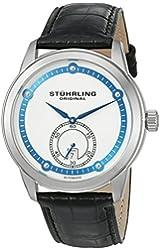 Stuhrling Original Men's 720.01 Leisure Gen X Circuit Automatic Date Silver Dial Watch