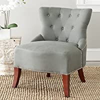 Safavieh Hudson Collection Zachary Side Chair, Sea Mist