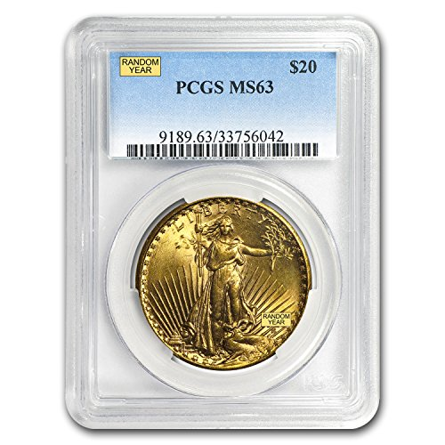 1907 – 1933 $20 Saint-Gaudens Gold Double Eagle MS-63 PCGS G$20 MS-63 PCGS
