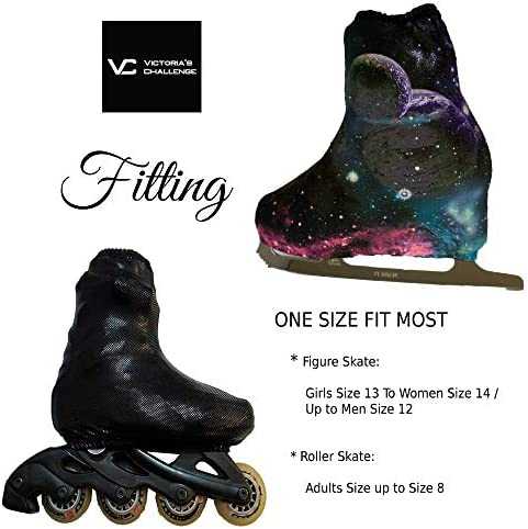 Victoria's Challenge Ice Skate Boot Cover N-Peel Thermal VCBC01S Skater's Love 1 Pair