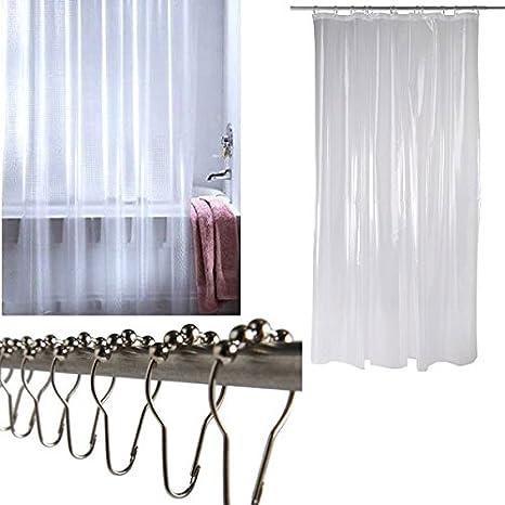 Anelli Per Tende Ikea.Ikea Nacten Tenda Trasparente Rullo Con 12 Anelli Per Tenda Doccia