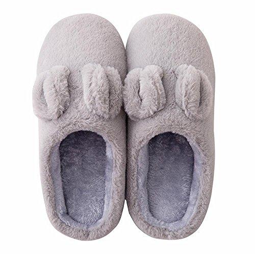 Zhang2 Cotone Morbido Pantofole Eu Pattini Casa Home Scarpe Uomini Autunno 003 Inverno Caldo Per Donna 39 eu42 Peluche XAXrx8w