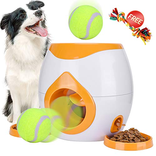 Pet Interactive Toys Tennis Ball Throwing Fetch Machine for Dogs&Cats FDA Food...