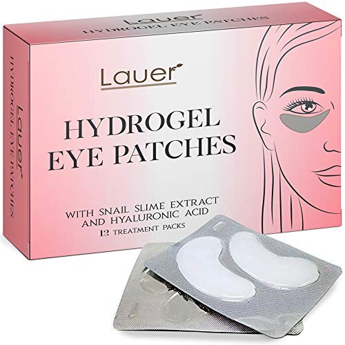 Lauer Under Eye Bags Treatment Patches | Eye Mask with Hyaluronic acid and SNAIL Slime Extract | Puffy Eyes | Dark Circles Under Eye Treatment Masks
