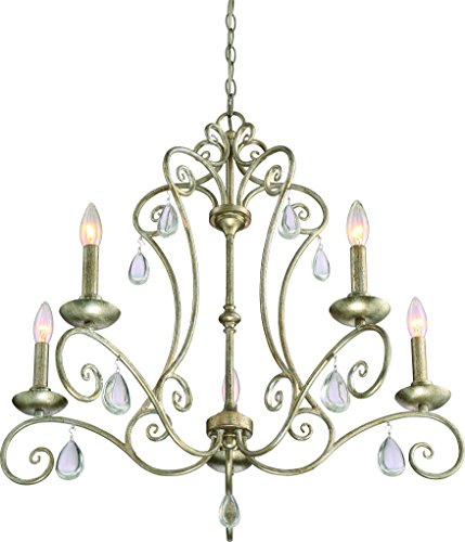 Luxury French Country Chandelier, Medium Size: 24.5