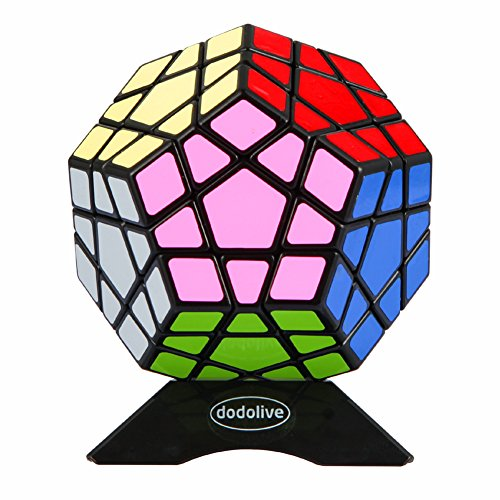 Dodolive 12 Faces 3 Layers Magic Plastic Cube 3x3 Speed Twist Polyhedron Puzzle Cube Toy Black