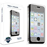 iPhone 4 Glass Screen Protector, Tech Armor Premium Ballistic Glass Apple iPhone 4 / 4S Screen Protectors [1]