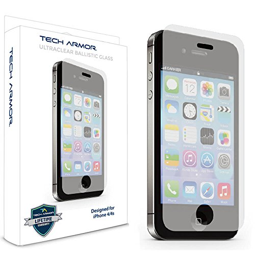 iPhone 4 Glass Screen Protector, Tech Armor Premium Ballisti