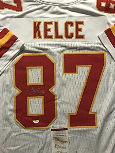 Autographed/Signed Travis Kelce Kansas City White Football Jersey JSA COA