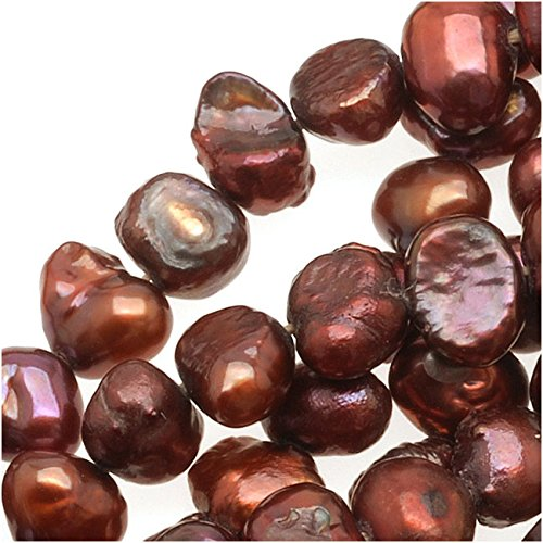 Beadaholique Burgundy Red Funky Nugget Cultured Pearls 3-7mm (16 Inch Strand)