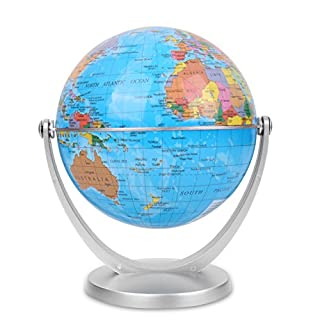 World Globe, Desktop World Globe, Office Globe Perfect for Educational Geographic, Learning Kids Gift (4in)