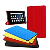 All-New Amazon Kindle Fire HD 8 Case 2017,Zerhunt Lightweight Slim Shell Stand Cover with Smart Auto Wake/Sleep for Amazon Fire HD 8 Tablet (7th Generation, 2017 Release) Red