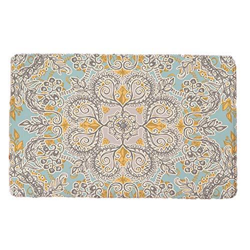Wandisy Retro Flower Style Soft Flannel Doormat 4060cm(#1)