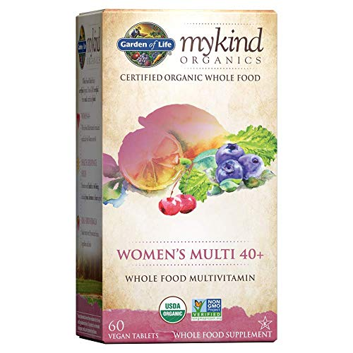 Garden of Life Multivitamin for Women – mykind Organic Women's 40+ Whole Food Vitamin Supplement, Vegan, 60 Tablets *Packaging May Vary*