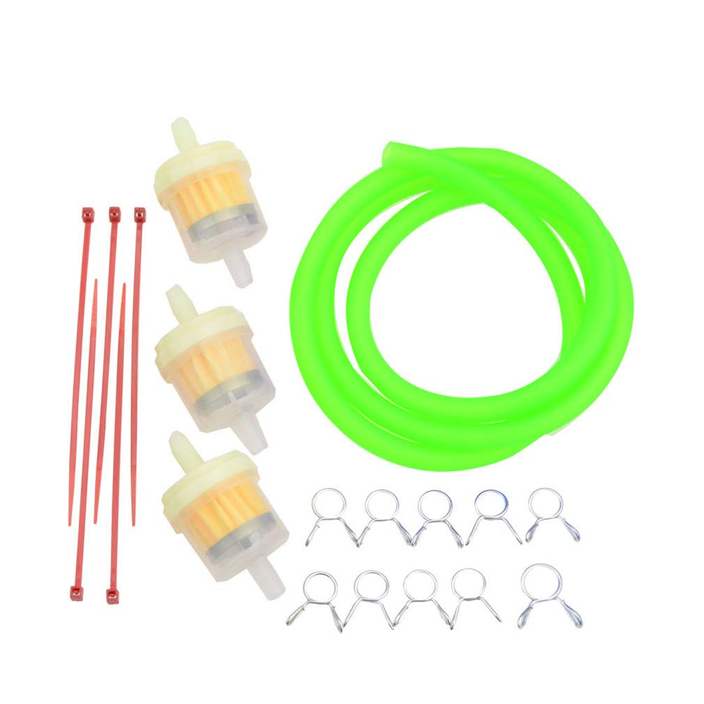 GOOFIT Fuel Filter Line Spring Clips Clamps Tube Hose Inner Diameter Motorcycle Oil Gasoline Universal for Dirt ATV Moped Scooters Pack Pocket Bike Yellow