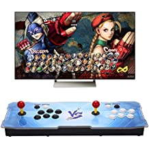 【1299 HD Arcade Games】 Real Pandora's Box 5S 2 Players Joystick Arcade Console with 1299 Retro Games Double Arcade Joystick Built-in Speaker Double Arcade Joystick Built-in Speaker