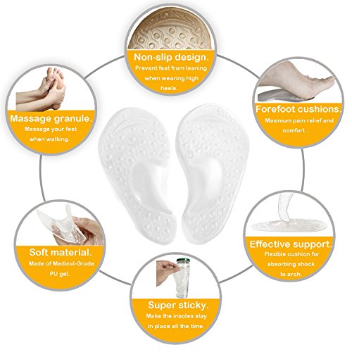 Arch Support for Flat Feet & Plantar Fasciitis, Gel Shoe Inserts Relieve Foot Pain for Women & Men (2 Pairs) by Gilife (Image #1)