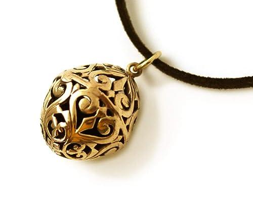 0001cbea6e5 Amazon.com: LynnAround Bronze Charm Filigree Golden Egg, Easter Egg ...