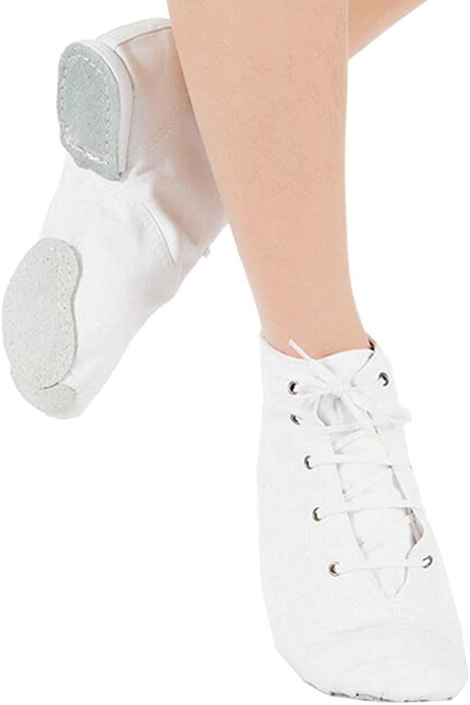 Unsex Modern Lace-up Canvas Jazz Stage Ballet Dance Shoes Boot Soft Sole