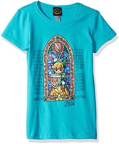 Nintendo Girls' Zelda Stained Glass Graphic Tee