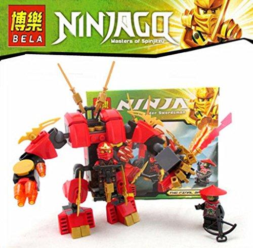 105pcs Ninjago Set Kai Scout Kais Fire Mech Ninja Building Bricks Blocks Minifigures Hero Toys Compatible With Lego 70500