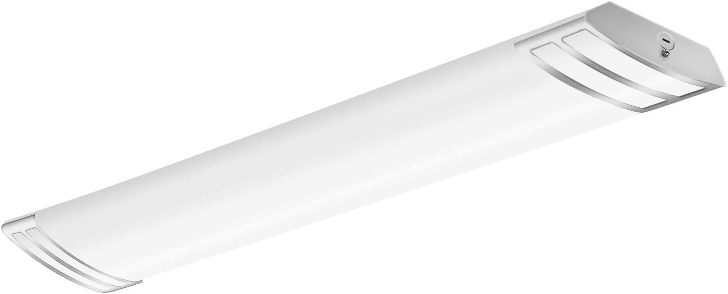 Hykolity 4FT LED Flush Mount Linear Lights, 50W 5500lm Puff Lights, 4000K Neutral White, 4-Foot LED Kitchen Ceiling Lighting Fixtures for Craft Room, Laundry, Fluorescent Replacement, ETL Certified
