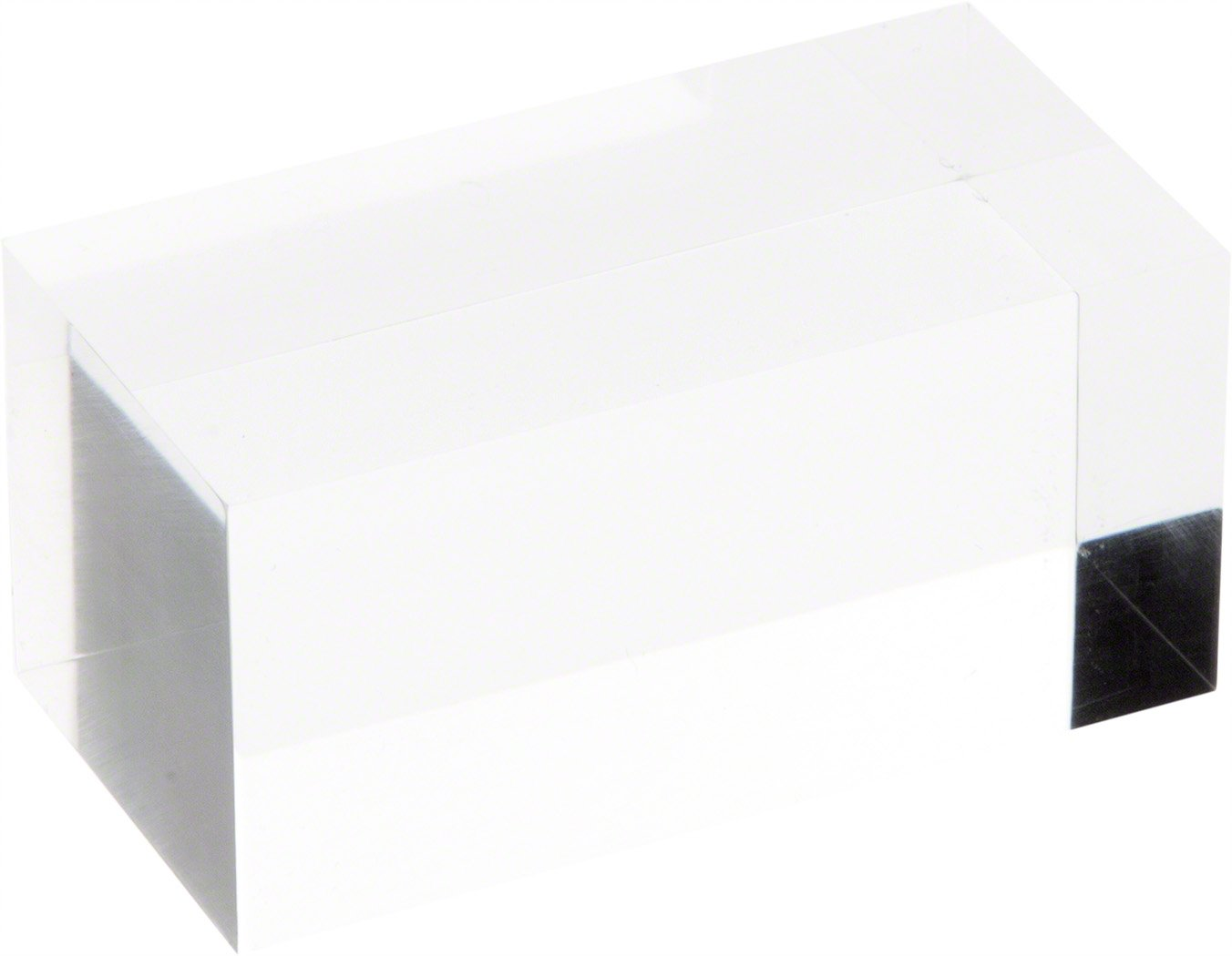 1.5 H x 1.5 W x 3 D Plymor Brand Clear Polished Acrylic Rectangular Display Block