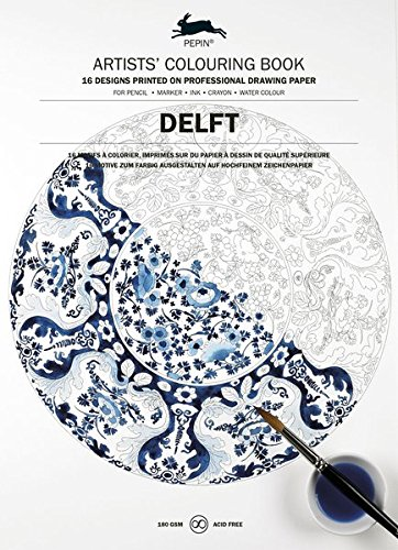 Delft Blue (Artists' Colouring Books) (English and German Edition)