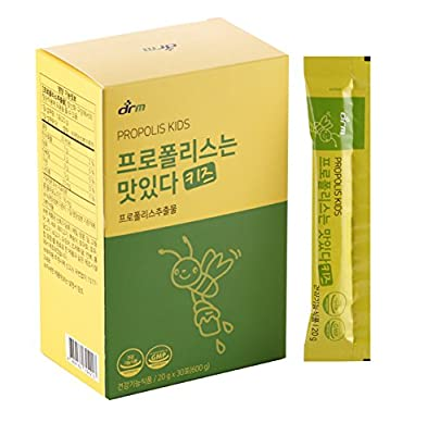 [Dr. MOON] Propolis Vitamin Jelly Kids (20g x 30 packets) – Helps support Kid's Healthy Immune System with Anti-Oxidant Properties, Vitamin C, 16mg of Flavonoid contained, Pear Extract, Lemon extract,