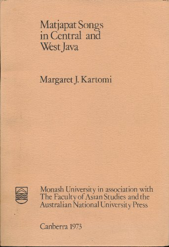 Matjapat songs in Central and West Java (Oriental monograph series)