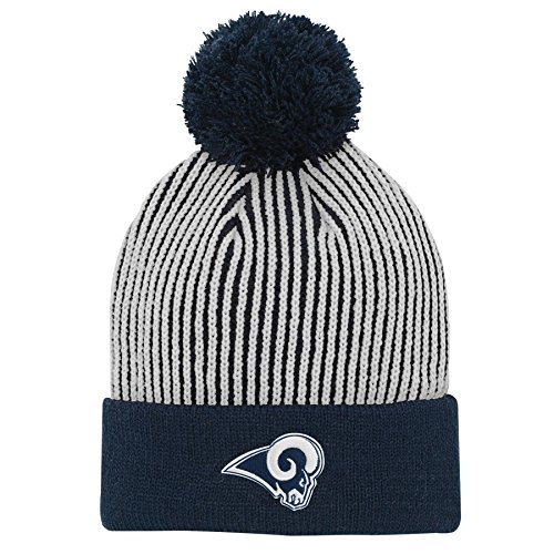 402a69b4259 Los Angeles Rams Pom Hat. Outerstuff NFL Los Angeles Rams Youth Boys Hidden  Rib Cuffed Knit ...